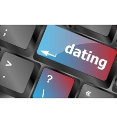 dating computer key showing romance and love vector image