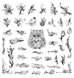 Set of Creative Swirl Vignettes vector image vector image