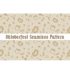 Holiday Oktoberfest Seamless Pattern vector image vector image