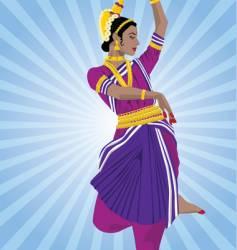 odissi dancer vector image vector image
