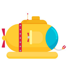 transportation submarine flat icon vector image