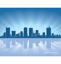 fort worth texas skyline vector image vector image