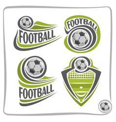 Logo football ball vector
