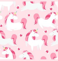 magic unicorn seamless pattern modern fairytale vector image