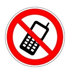 No phone sign 804 vector image