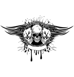 three skulls tribal vector image