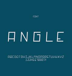 Angle font alphabet vector
