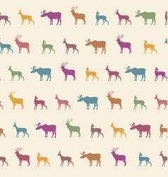 animal silhouette seamless pattern wildlife vector image