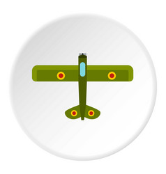 Army biplane icon circle vector