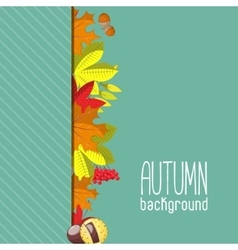 Autumn background for invitation or ad template vector image