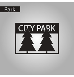 Black and white style icon City Park vector