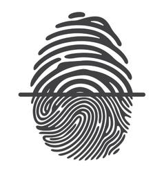 Black fingerprint vector