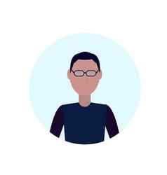 brunette man avatar isolated faceless male cartoon vector image