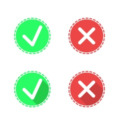 Check mark icons on white background vector