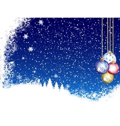 Christmas Blue Background From Snow vector image