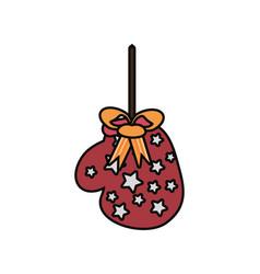 christmas glove icon vector image
