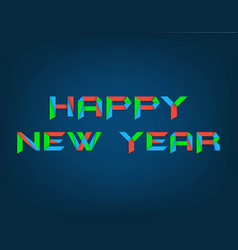 colorful happy new year background vector image