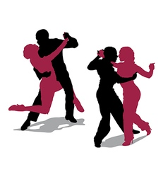 Couple dancing argentine tango vector