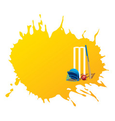 creative cricket promotion poster deign vector image