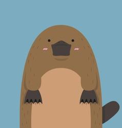 Cute big fat platypus vector