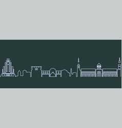 damascus single line skyline vector image