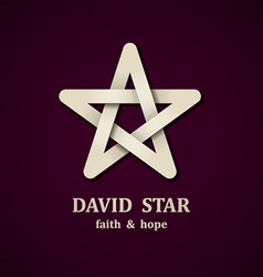 David star symbol design template vector image