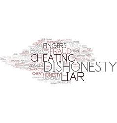 Dishonesty word cloud concept vector