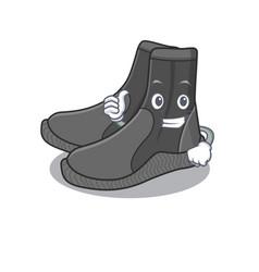 Dive booties cartoon picture design showing ok vector