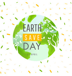 Earth day 22 april concept poster vector