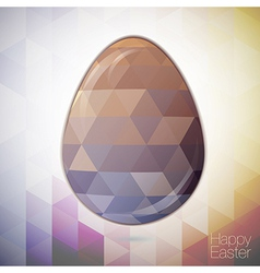 easter egg in the style of crystal for Easter vector image