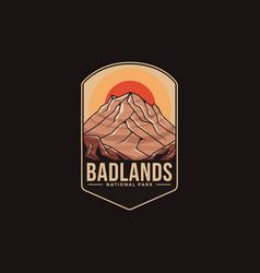 emblem patch logo badlands national park vector image