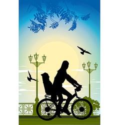 Family bike ride vector image vector image