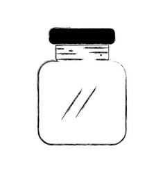 Figure glass and crystal jar object to save vector