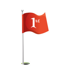 Flag location isolated icon vector