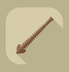 Flat modern design with shadow icons spine vector