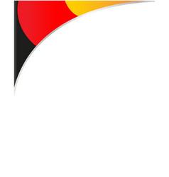 German flag corner frame vector
