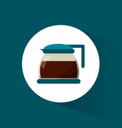 Glass pot coffee maker vector
