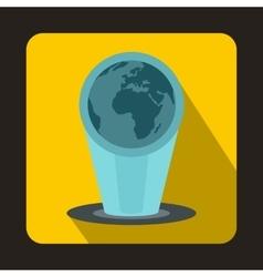 Holograma icon flat style vector