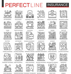 insurance outline concept symbols health and life vector image
