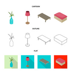 isolated object of bedroom and room icon vector image