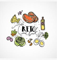 Keto cook book - sketch vector