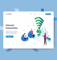 landing page template internet connection vector image