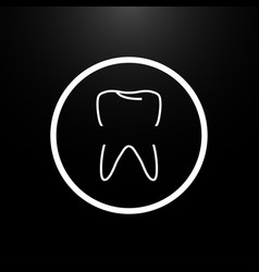 logo tooth on a black background of stylish vector image