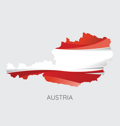 map of austria vector image