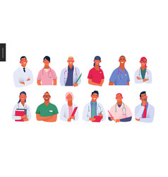 Medical insurance template -best doctors vector