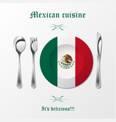mexican cuisine cutlery vector image