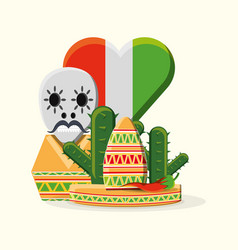 mexico concept design vector image