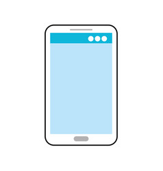 mobile phone technology device digital electronic vector image
