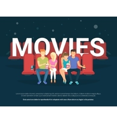 Movies concept vector image