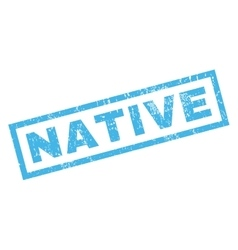 Native Rubber Stamp vector